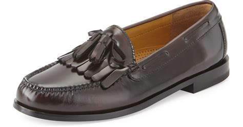 cole haan tassel loafers cole haan pinch polished leather tassel loafer in