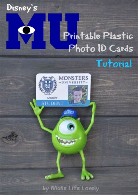 make plastic id cards diy disney monsters plastic photo id cards