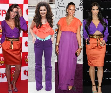 fashion s coolest clash how orange and purple became the colours how to wear the color blocking trend mz mahogany chicmz