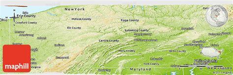 pennsylvania physical map physical panoramic map of pennsylvania