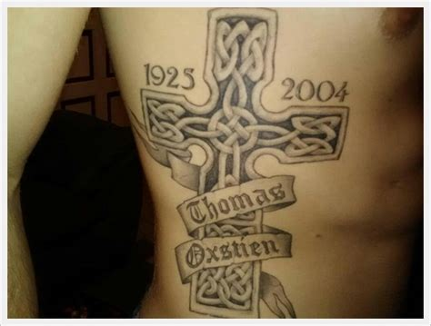 irish memorial tattoo designs 10 cross memorial designs