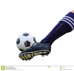 foot kicking soccer isolated stock photos image