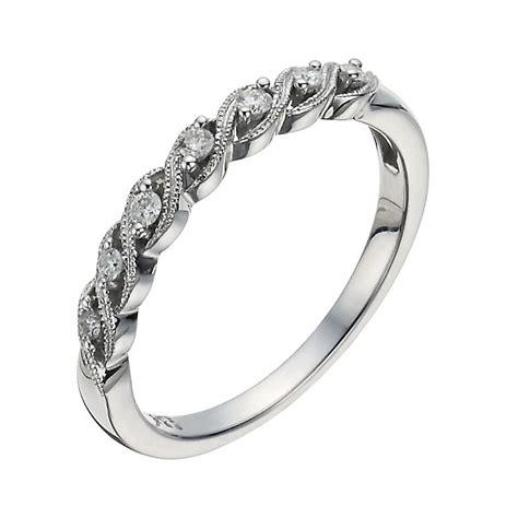 9ct white gold twist eternity ring h samuel