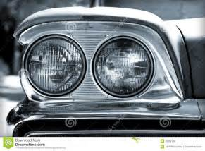 Car Lighting Up Time Today Vintage Car Headlights Royalty Free Stock Photos Image