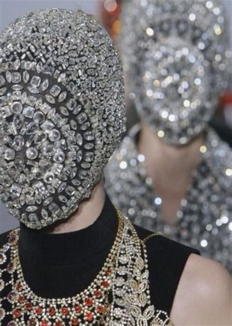 Paper Mask Martin jewels mask by air diamonds maison martin