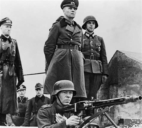 field marshal the and of erwin rommel books erwin rommel inspecting the defenses in normandy 1944