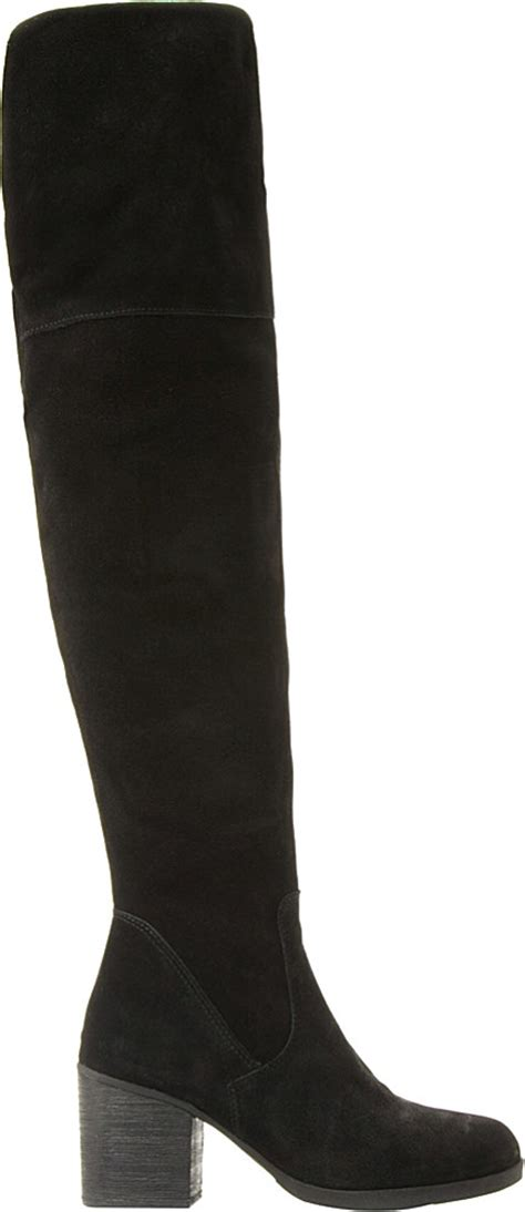 Steve Madden The Knee Boots by Steve Madden Suede The Knee Boots In Black Lyst