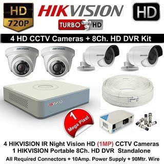 buy hikvision 2+2 cctv dome cameras with 4 channel dvr