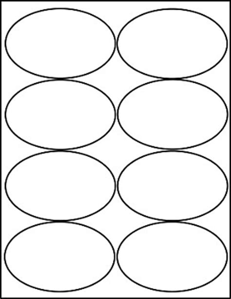 Oval 4 X 2 1 2 Inch White Matte Labels 100 Sheets 4319m Oval Label Template 18 Per Sheet