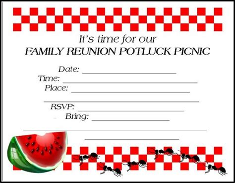 the gallery for gt family reunion invitation templates