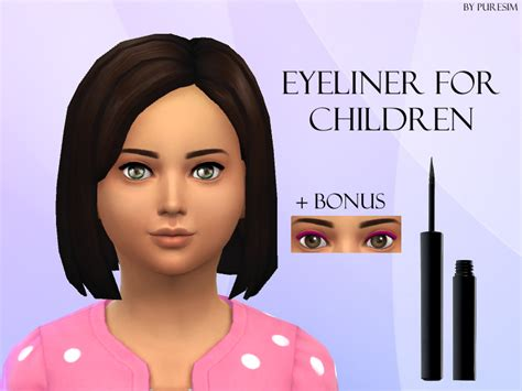 sims 4 toddler eyes cc puresim s eyeliner for children