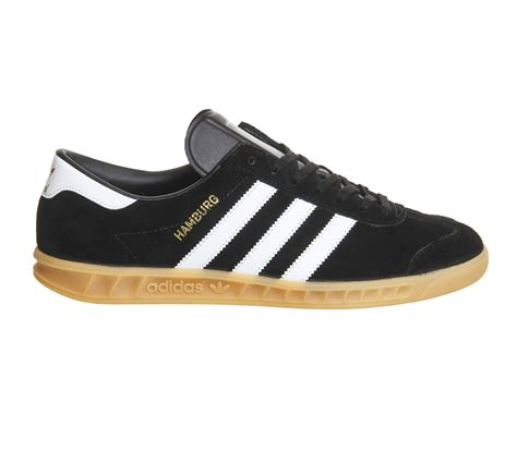 adidas hamburg black gum trainers shoes ebay