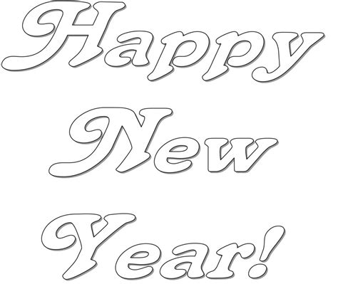 color for happy free coloring pages of new years