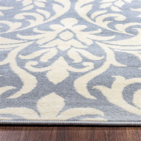 Pattern Area Rugs Millington Damask Pattern Area Rug In Blue Ivory 7 10 Quot X 10 10 Quot