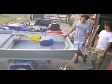 row boat modifications 12ft v hull project youtube