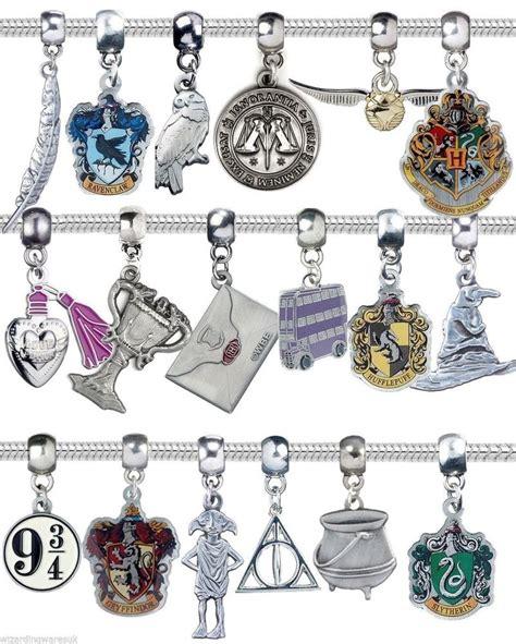 harry potter bracelet charm bead silver jewelery hogwarts