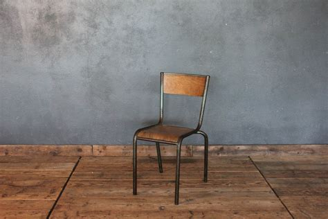 centrale francese sedia vintage da scuola impilabile francese anni 50 la
