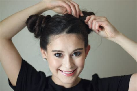 hairstyles like space buns how to do the easy space buns hairstyle every celebrity loves