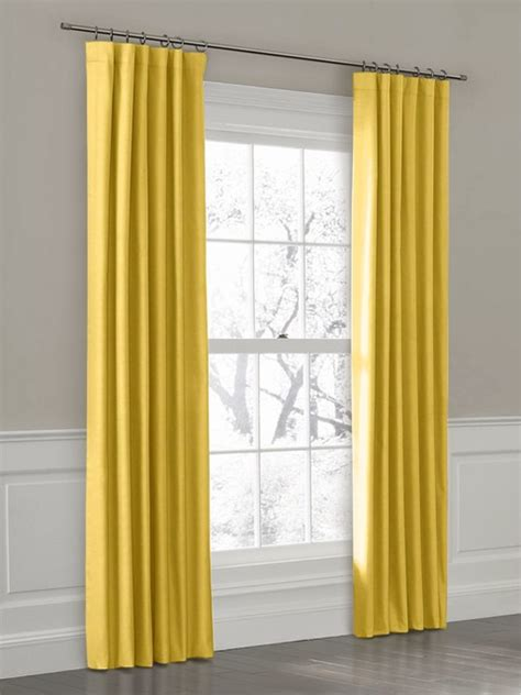 mustard yellow curtains custom ring top drapery panel in breezy linen mustard