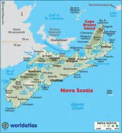 maps scotia canada scotia canada large color map