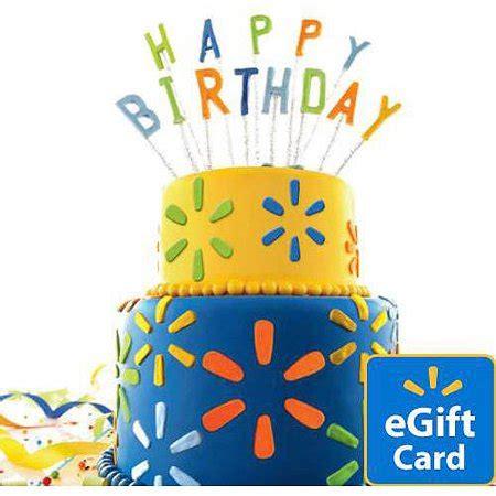birthday cake walmart egift card walmartcom