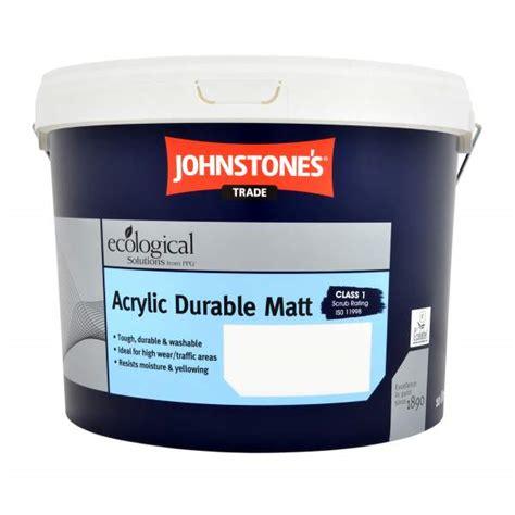 acrylic paint johnstones johnstones trade acrylic durable matt magnolia 10l