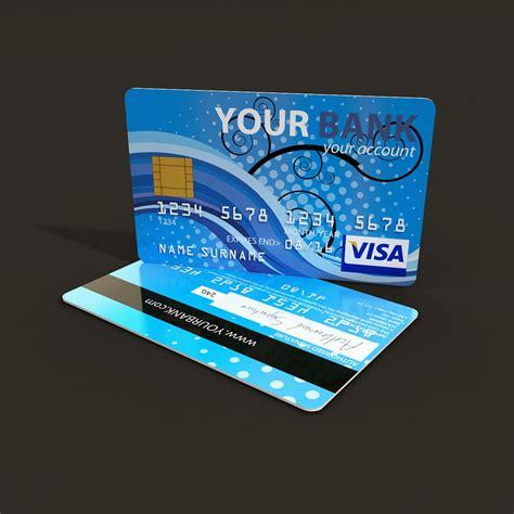 card model credit card 3d model