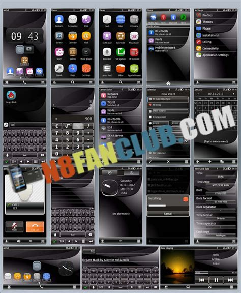 nokia 110 black themes free download elegant black theme nokia n8 symbian belle free