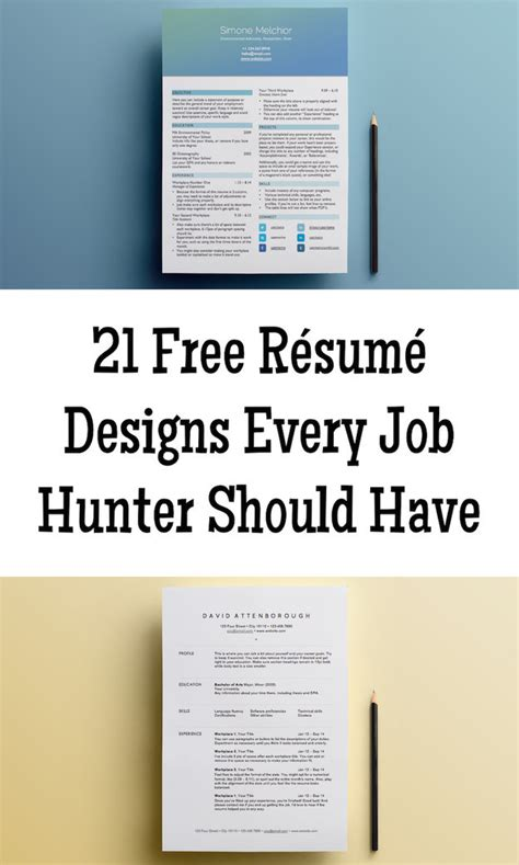 Resume Templates Buzzfeed 21 Free R 233 Sum 233 Designs Every Needs