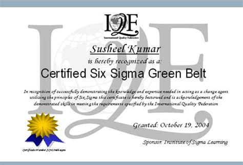 green belt certificate template isllms mobile