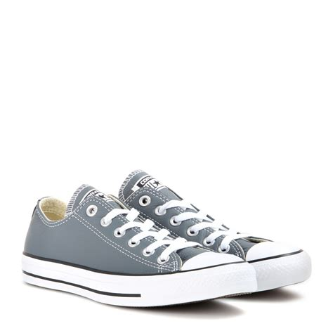 converse sneakers lyst converse all low chuck leather sneakers