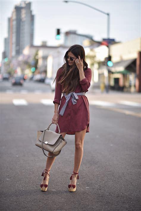 25 simple ways to wear a shirt dress ideas