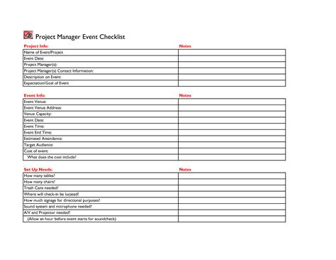 event planning checklist template free free business