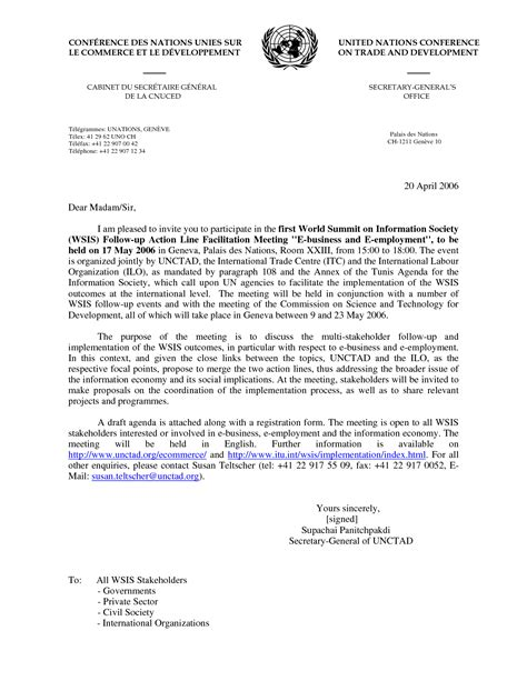 invitation letter to attend a conference sle of