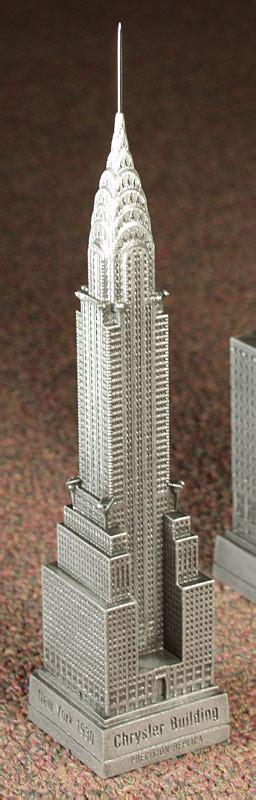 Mini Arsitektur Chrysler Building the chrysler building pewter miniature souvenir architect william allen alen
