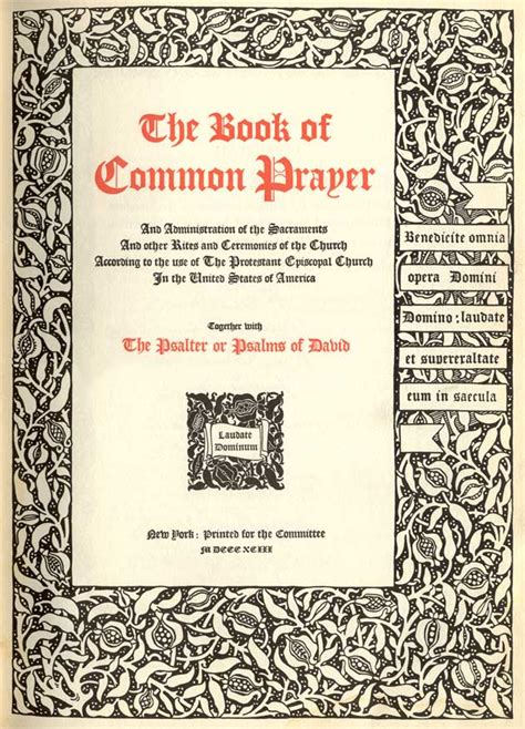 the common books book of common prayer printers