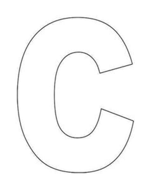 c template printable alphabet letter templates free alphabet letter
