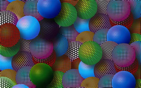 3d ball wallpaper pink multi coloured balls wallpapers and images wallpapers