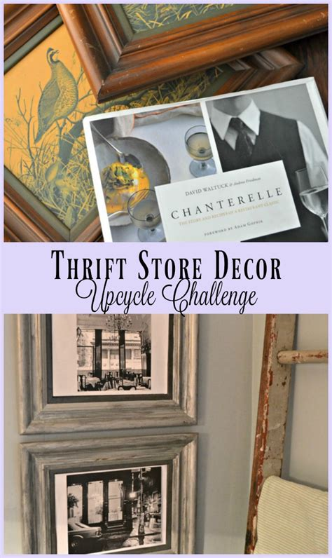 thrift store curtains thrift store decor upcycle challenge picture frame edition