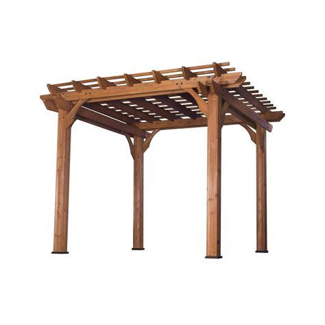 pergola home depot backyard discovery 10 ft x 10 ft cedar pergola