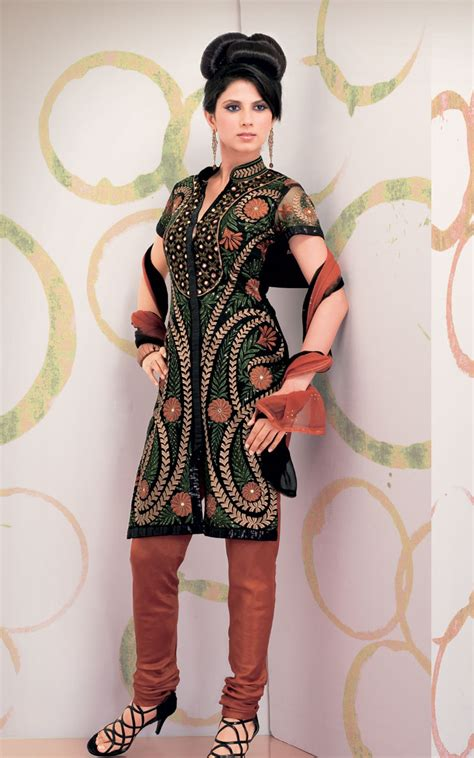 embroidery design in suits latest design embroidery chudidar kameez suits in 2011