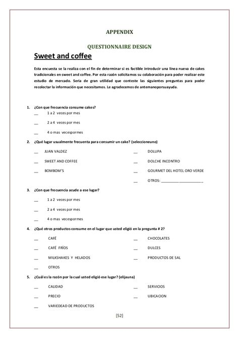 Traditional Cakes Project Coffee Survey Template