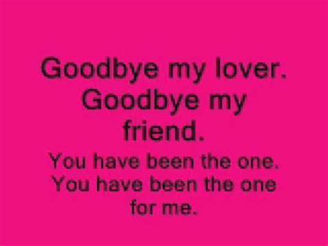 testo goodbye blunt goodbye my lover lyrics