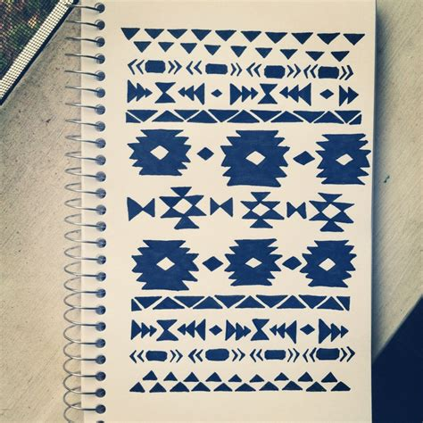 tribal pattern doodles aztec pattern doodle tribal art pinterest aztec