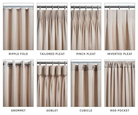 drapery pleats types the 8 most common types of drapery pinteres