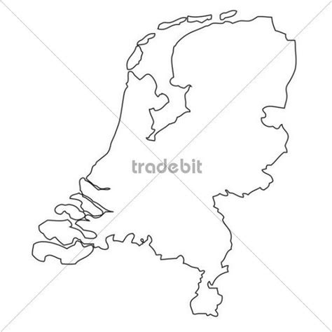 netherlands map outline outline map of the netherlands places