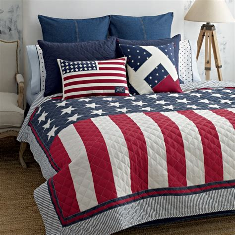 american flag bedding tommy hilfiger americana quilt from beddingstyle com
