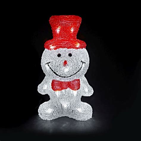 Snowman Decoration White snowman acrylic decoration with 24 white led