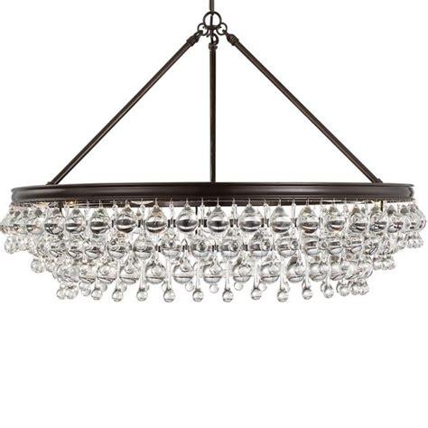 bronze chandelier crystorama crystorama calypso 6 light teardrop