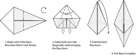 Origami Kite Base - origami bases kite fish and bases